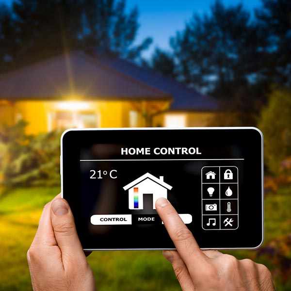 74151777 - remote home control system on a digital tablet or phone.